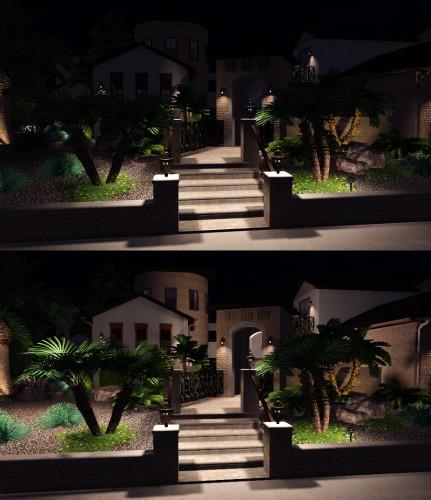 Landscape Design Software night time lighting