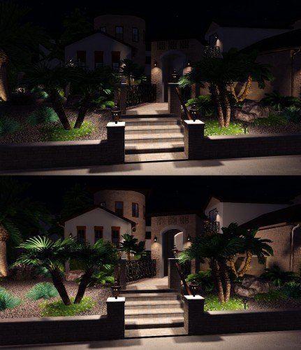 Landscape Design Software night time lighting