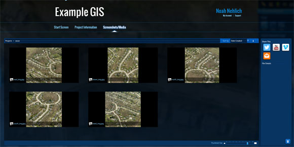 Download ultra high resolution GIS images
