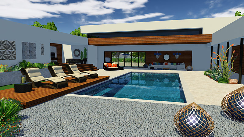 Vip3D pool and landscape design software with Sketchup import