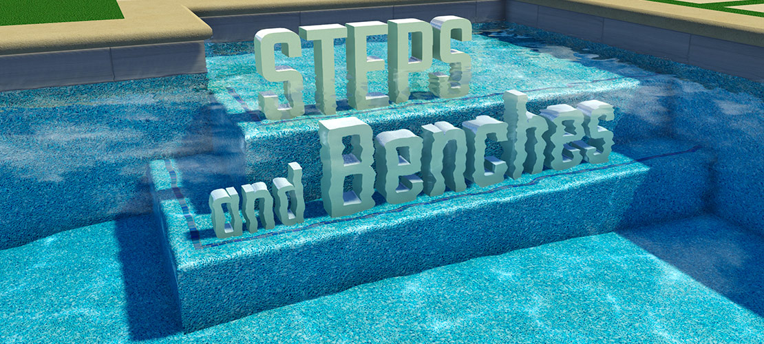 Easily Draw 3D Swimming Pool Steps And Benches