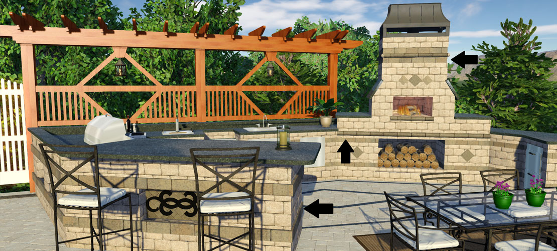 Outdoor Kitchen in Landscape Design Software