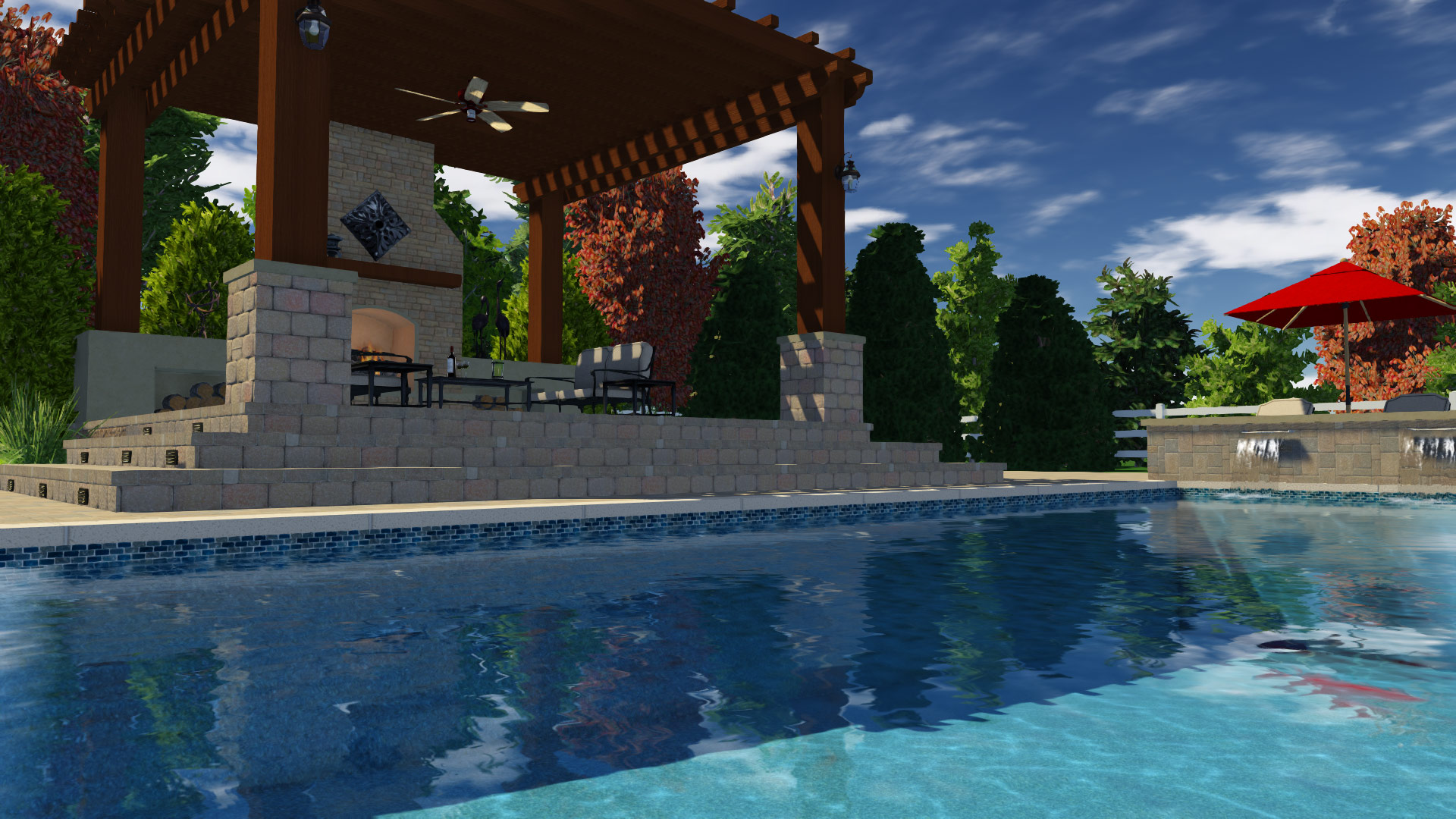 Match the Pergola to the surroundings to help it fit in the overall design
