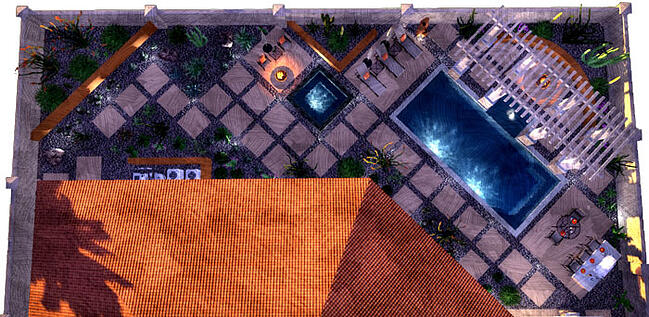 Awesome Backyard Design Created in Pool Studio - Pool Design Software