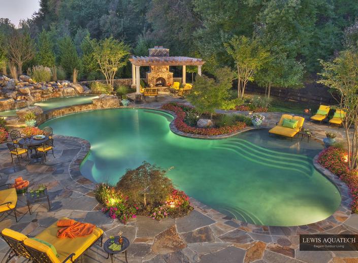 Swimming pool lighting led pool lighting reviews for Pool design blog