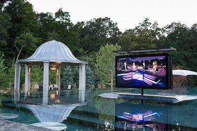 Poolscape_Inc._TV_housed_in_water_proof_bunker