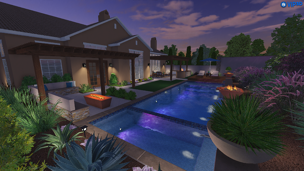 Vip3D Pool Design Evening
