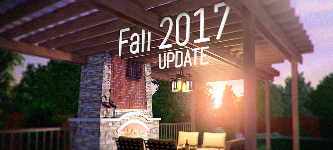 Fall 2017 Update - Design Custom Pergolas and Layout Pools Automatically