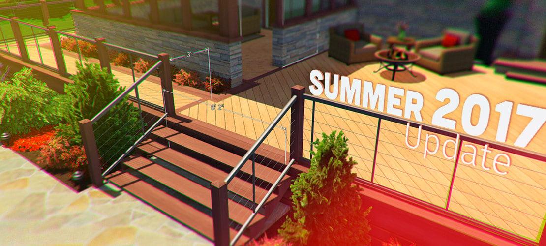 Summer 2017 Update - Wooden Decks and 3D Measurements