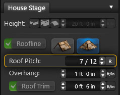 Roof Pitch Setting