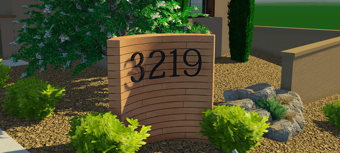 Street Numbers with 3D Text