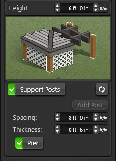 Deck Posts GUI