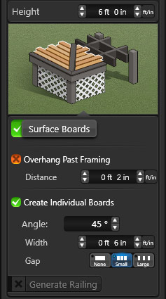 Deck Surface GUI
