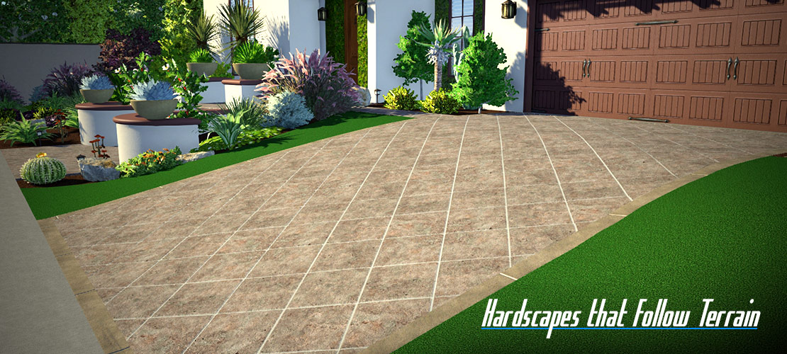 Hardscapes that Follow Terrain
