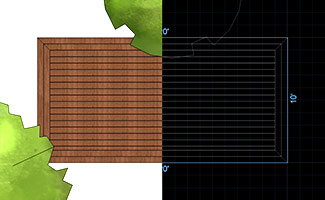 Show Deck Framing in 2D