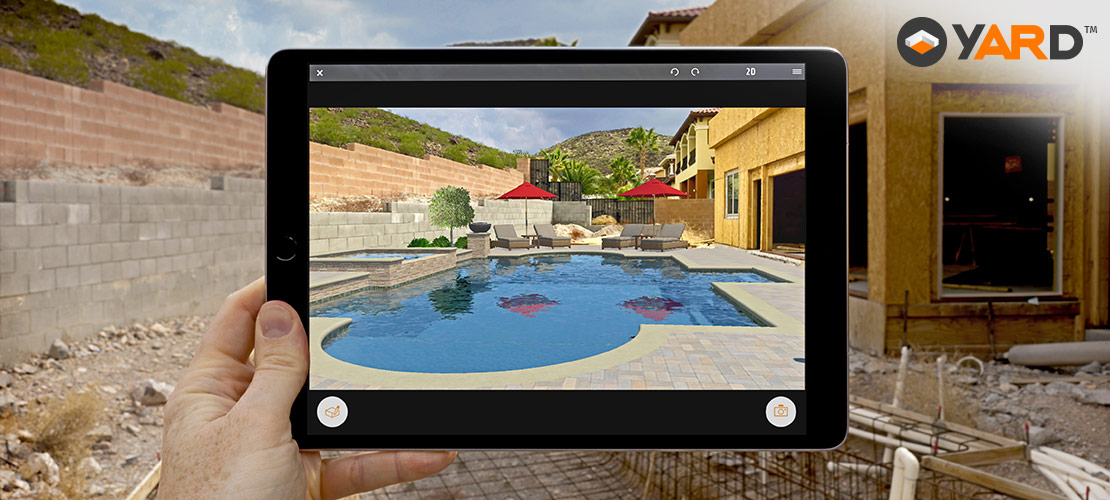 yard augmented reality for swimming pools outdoor kitchens and