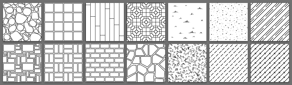 New Black and White Fill Patterns