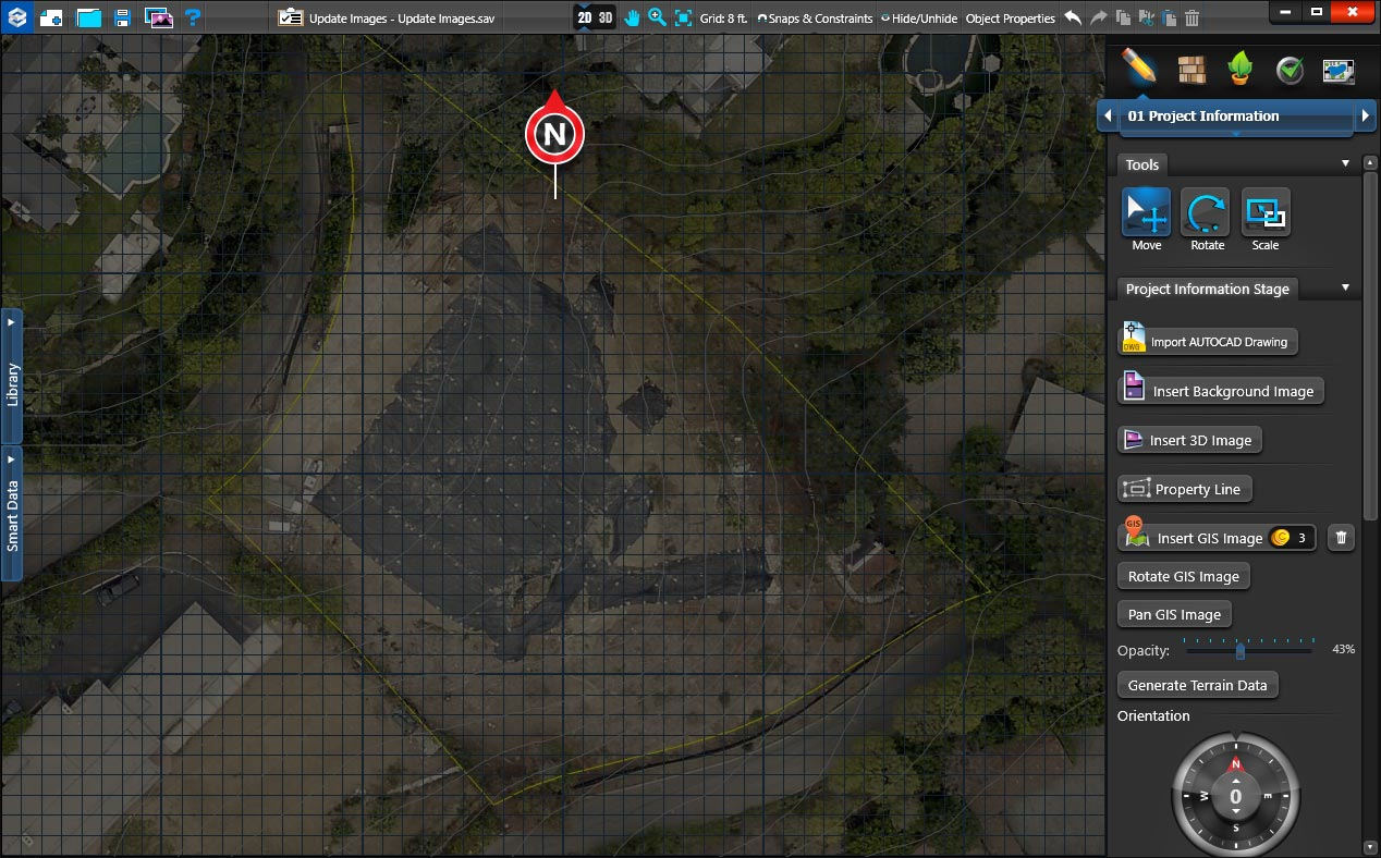 Set Opacity of GIS Images
