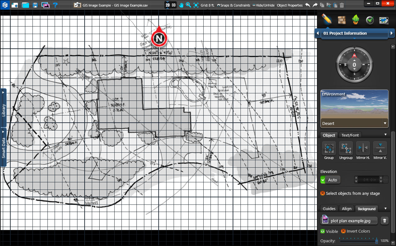 Insert Plot Plan as Background Image