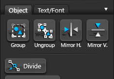 Goup and Ungroup Buttons