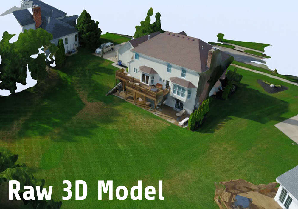 Raw 3D Model - Drone Aerial 3D Mapping