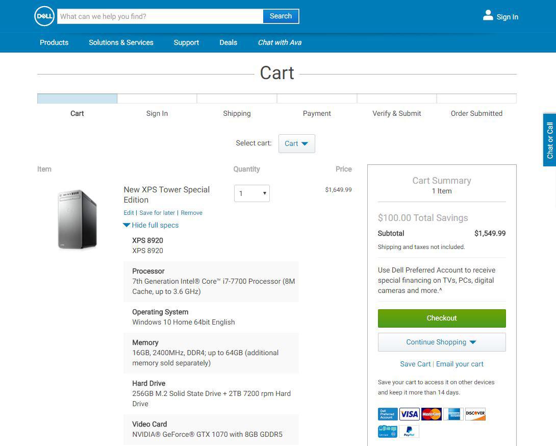 Dell Computer Price