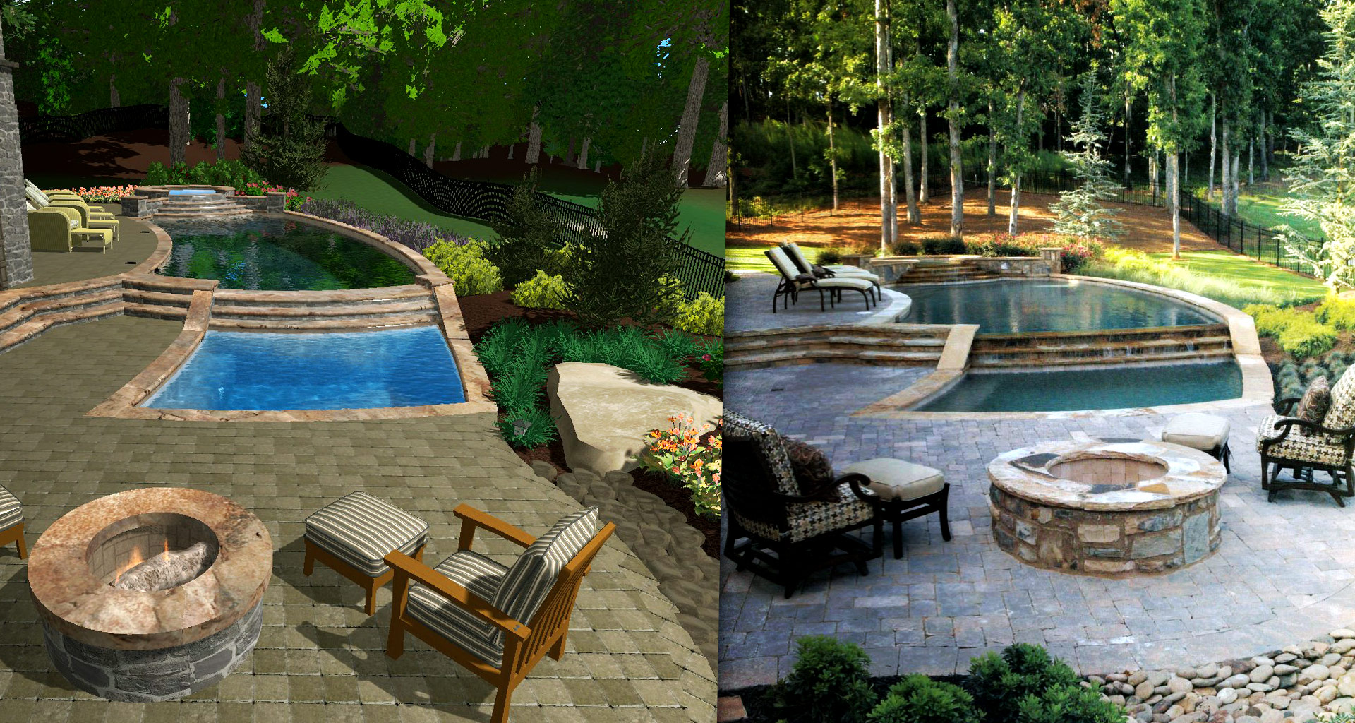 Focusing on Details - Pool Studio Rendering and Real Project Comparison