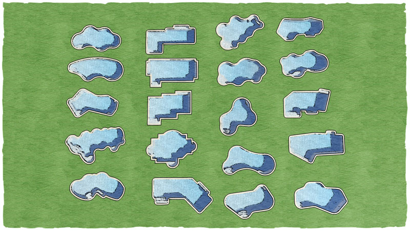 20 free swimming pool templates for your pool design software for Pool design program