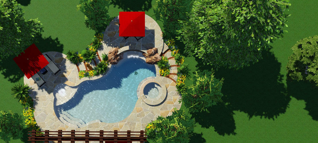 20 free swimming pool templates for your pool design software for Pool design software free online