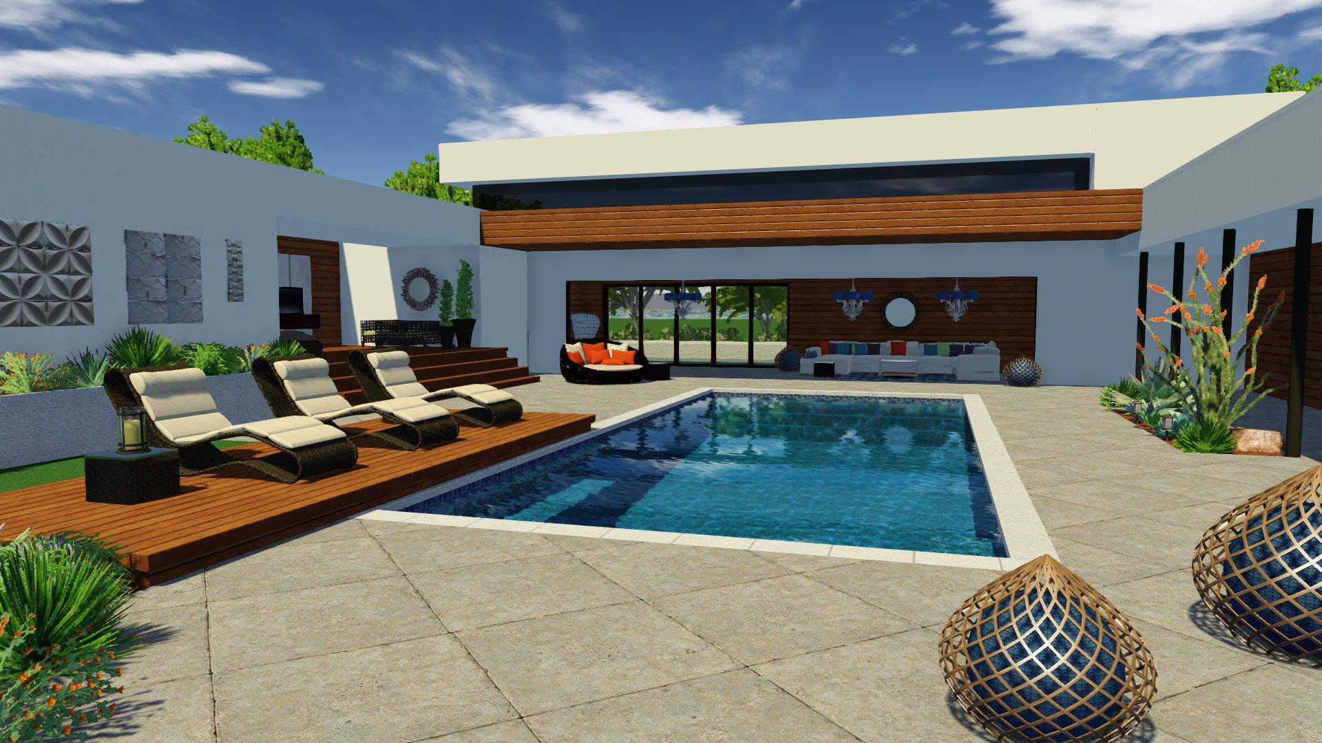 Pool Deck Size