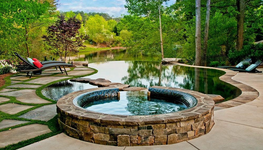 A pool builder s dream alvin crosby details pool for Leblanc custom homes
