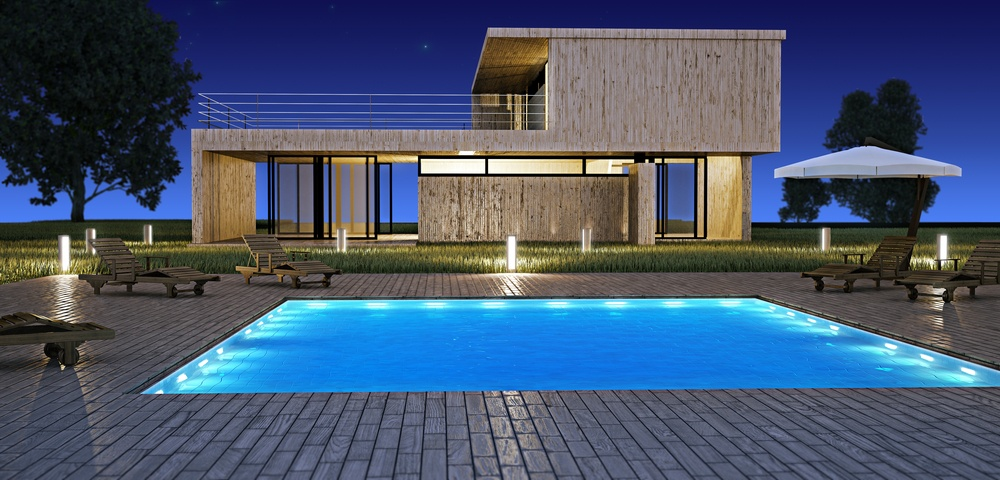 Creating signature designs how to place large boulders in a poolscape for Swimming pool construction agreement