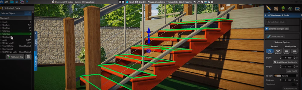 Staircases with build-ready smart data