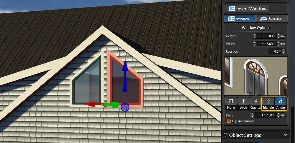 Angle Window Option